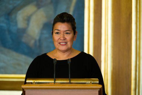 Aleqa Hammond bei einem Treffen des Nordischen Rates in Oslo. Foto: Magnus Fröderberg/norden.org CC BY 2.5 dk