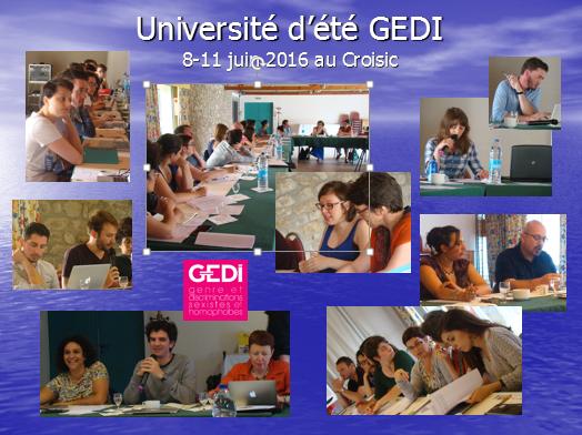 Programme de l'Université d'été GEDI du 8-11 juin 2016