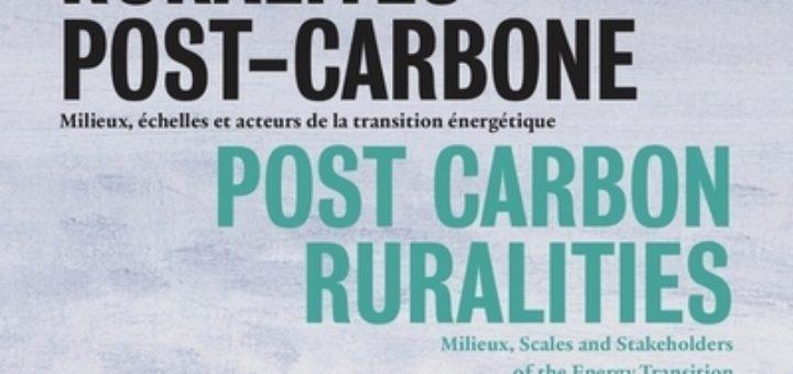 Couverture Ruralités post-carbone. Milieux, échelles et acteurs de la transition énergétique