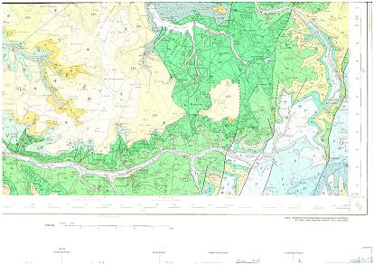 Carte  géologique de la région de Treigny