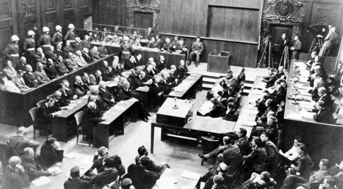 70 ans après Nuremberg – Juger le crime contre l'humanité – 30 septembre 2016