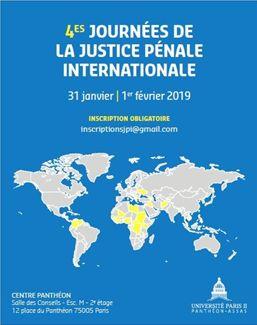 4e journées de la justice pénale internationale