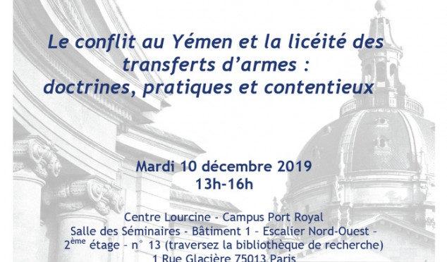 LE CONFLIT AU YÉMEN ET LA LICÉITÉ DES TRANSFERTS D'ARMES