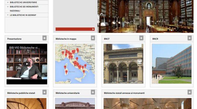BIBVIO, o una presentazione delle biblioteche statali italiane