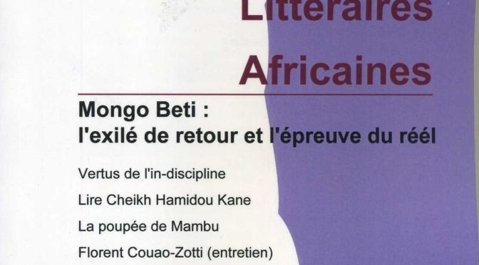 Mongo Beti : l'exilé de retour et l'épreuve du réel – ELA 42