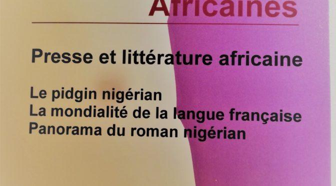 Presse et littérature africaine. ELA 48 (2019)