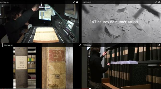 Les coulisses du projet : vidéo sur la numérisation du JO