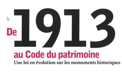 Parution : De 1913 au Code du patrimoine (La Documentation française, 2018)