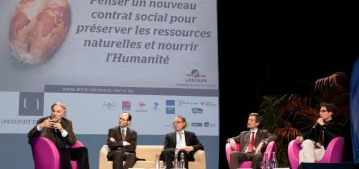 Table ronde : Marcel MAZOYER, Olivier De SCHUTTER, François COLLART DUTILLEUL, Walter BOUVAIS