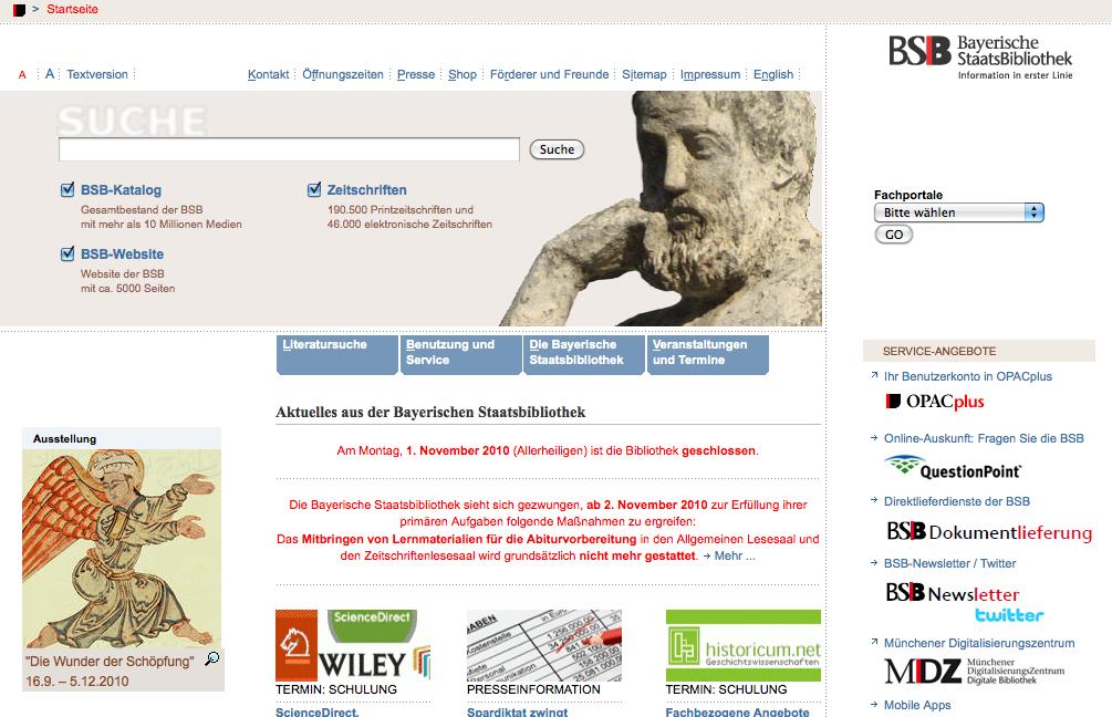 Die Bayerische Staatsbibliothek- Aktuelles aus der Bayerischen Staatsbibliothek