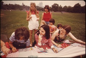 quilting at Central Park