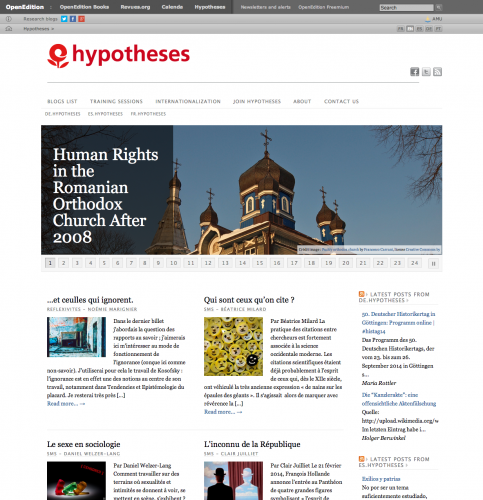 Hypotheses homepage