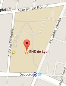 ENS Lyon - 15 parvis Descartes - Accès Métro Ligne B - Arrêt Debourg