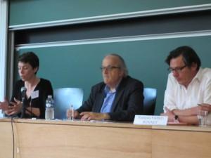 Clarisse Siméant, Pascal Texier et François Saint-Bonnet aux 34e JHD, Limoges, juin 2015 (photo de Stéphane Boiron)