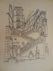 illustration de Charles Brouty dans Lucienne Favre, Tout l'inconnu de la Casbah d'Alger, Baconnier, 1933.