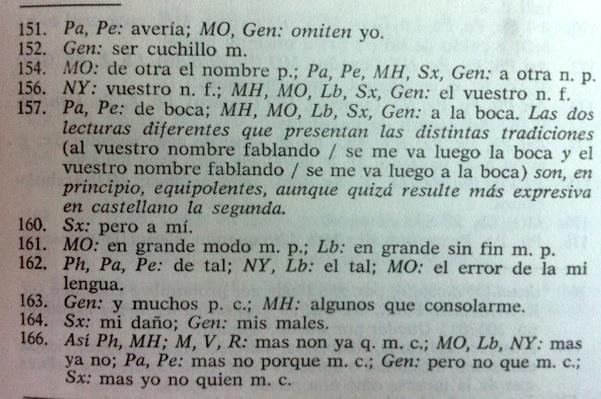 Aparato crítico de la edición de Obra lírica de Juan de Mena(Pérez Priego 1979: 137)