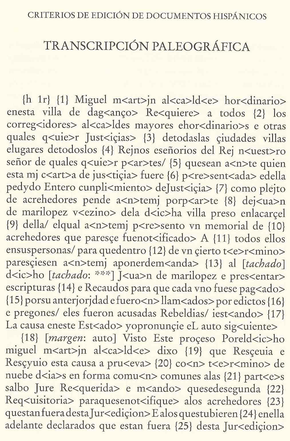 Transcripción paleográfica de 1589 (Sánchez-Prieto 2011: 73)