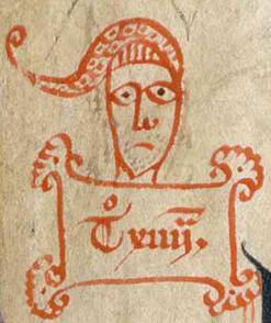 Ladillo de un fragmento de las Siete PartidasArchivo de la Real Chancillería de ValladolidPerg. carp. 178-3