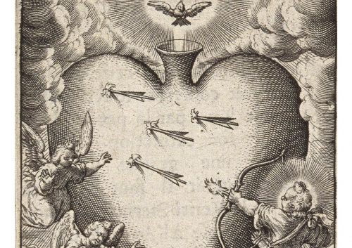 Wierix, Christ shooting arrows (Wellcome Library, London)