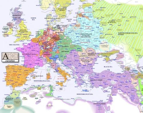 La principauté de Valachie Source : Euratlas, Wikimédia