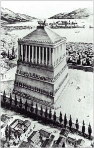 Figure 6 : Restitution du Mausolée d'Halicarnasse Source : Jackson P., 1922-2003