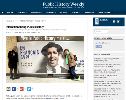 Internationalizing Public History   Public History Weekly