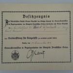 Verleihung des Verdienstkreuzes f&uuml;r Kriegshilfe an Sanit&auml;tsrat Dr. Vo&szlig;schulte, 1917<br /> Privatbesitz Froesch, Linz