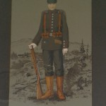 """""""Erinnerung an den Weltkrieg""""<br /> In die Collage wurde die Fotografie des Gesichts des Soldaten hineinmontiert<br /> Privatbesitz Hansmann, Neuwied"""