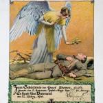 Gedenkblatt f&uuml;r einen gefallenen Soldaten, 1918<br /> Privatbesitz Girnstein, Linz