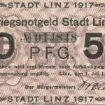 St&auml;dtisches Notgeld, 1917<br /> Stadtarchiv Linz am Rhein