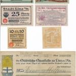 St&auml;dtisches Notgeld und Banknoten aus der Inflationszeit<br /> Stadtarchiv Linz am Rhein