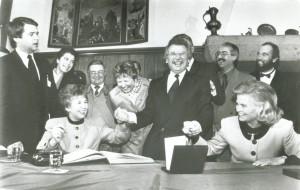 Empfang von Raissa Gorbatschowa und Hannelore Kohl, 9. November 1990