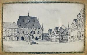 Rathaus und Marktplatz, 1706