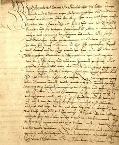 Das Kölner Domkapitel entbindet am 6. März 1583 die Linzer Bürger von ihrem Eid gegenüber dem Kurfürsten Gebhard Truchseß Stadtarchiv Linz
