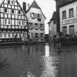 Hochwasser 23.12.1993, Burgplatz<br /> Foto: Feuerwehr Linz