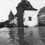 Hochwasser 22.12.1993, Am Gestade<br /> Foto: Feuerwehr Linz