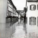 Hochwasser 24.12.1993, Zollstraße<br /> Foto: Feuerwehr Linz
