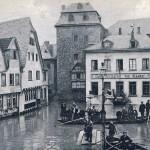Hochwasser 1920, Burgplatz<br /> Repro: Stadtarchiv Linz