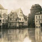 Hochwasser 1920er Jahre, Burgplatz<br /> Repro: Stadtarchiv Linz