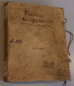 Manuale Obligationum der Armenverwaltung zu Linz, 1735-62