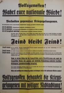 Plakat Kriegsgefangene
