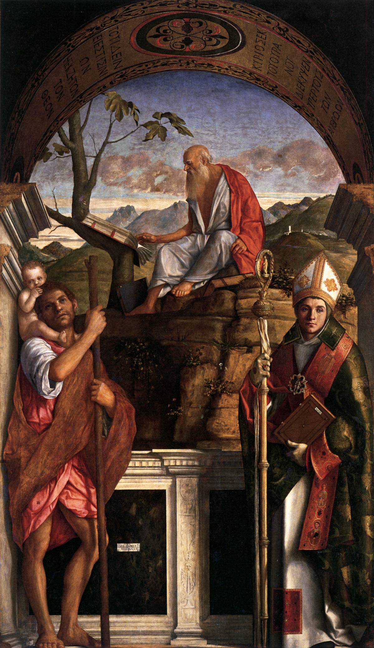 Giovanni Bellini The Saints Christopher Jerome And