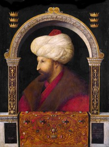 Gentile Bellini: Mehmed II, Oil on Canvas, 1480, National Gallery, London.