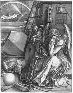 Albrecht Dürer: Melancholia I, Copper Engraving, 1514