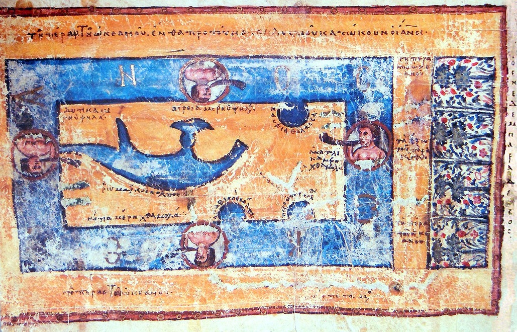 World from the anonymous <i>Christian Topography</i>, eleventh century, St Katherine's Monastery, Sinai