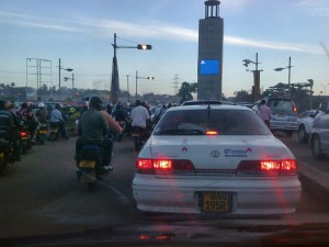 Abendstau in Kampala, 6. Oktober 2014
