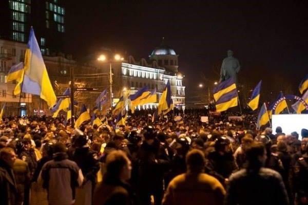 Euromajdan in Donec'k. Winter 2014