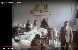"The Pionirka factory in Aržano (still from ""Die Leute aus Aržano"", ZDF, 1974)"