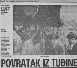 """""""Return from Abroad"""" (Oslobodjenie, 20 May 1970)"""