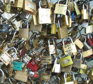 Cadeados na Pont des Arts, em Paris Foto: MIR, 2013